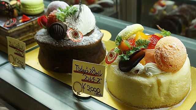 生菓子ショーケース